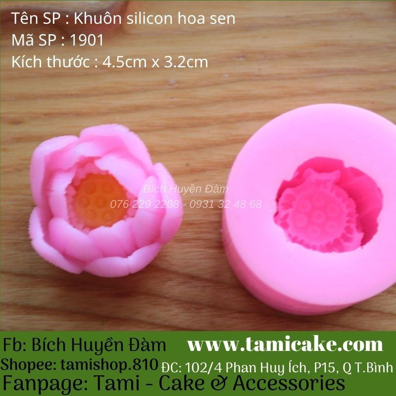 Khuôn silicon hoa sen 1901