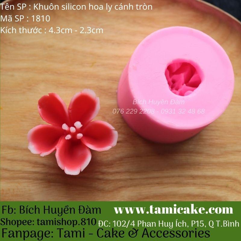 Khuôn silicon hoa cánh tròn 1810