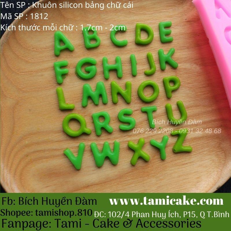 Khuôn silicon bảng chữ cái 1812