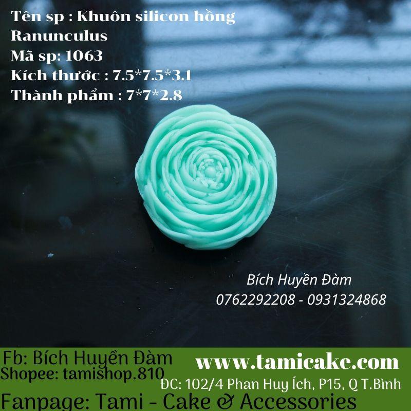 Khuôn silicon Hoa Hồng Ranunculus PVN1063