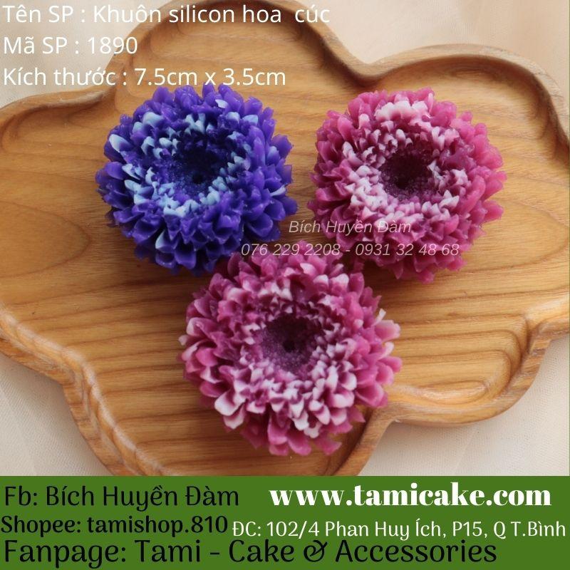 Khuôn silicon hoa cúc 1890