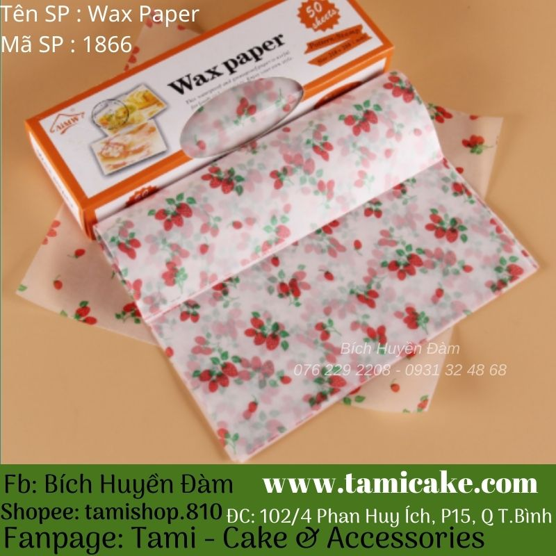 Wax Paper (Cuộn 50 tờ)