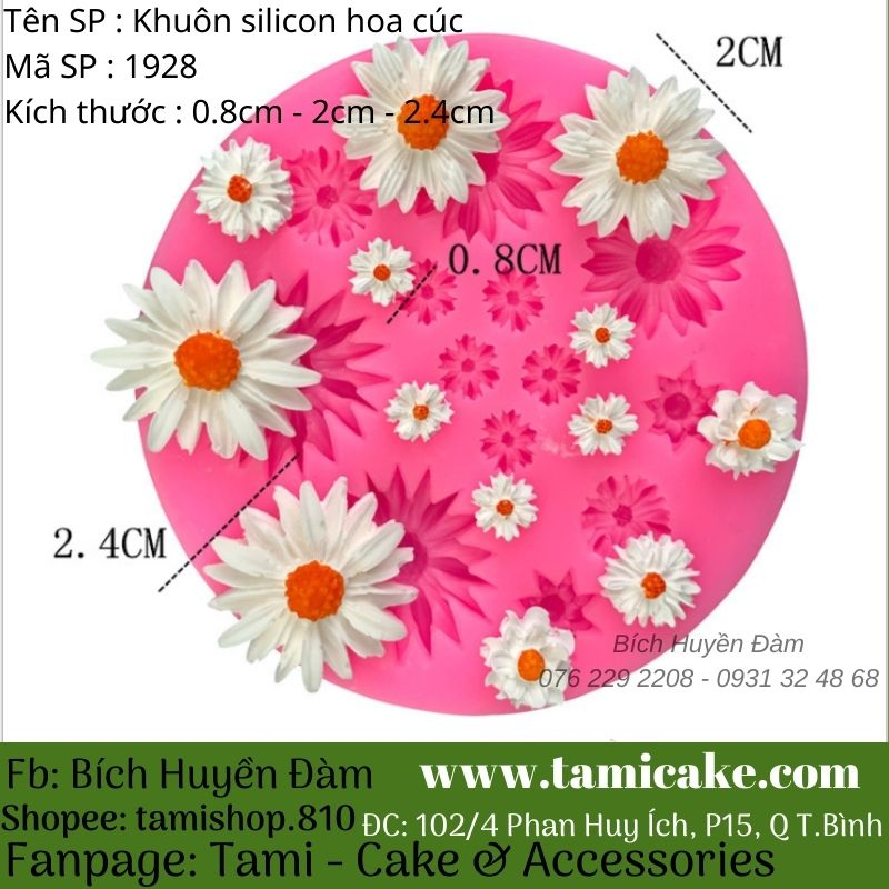 Khuôn silicon hoa cúc 1928