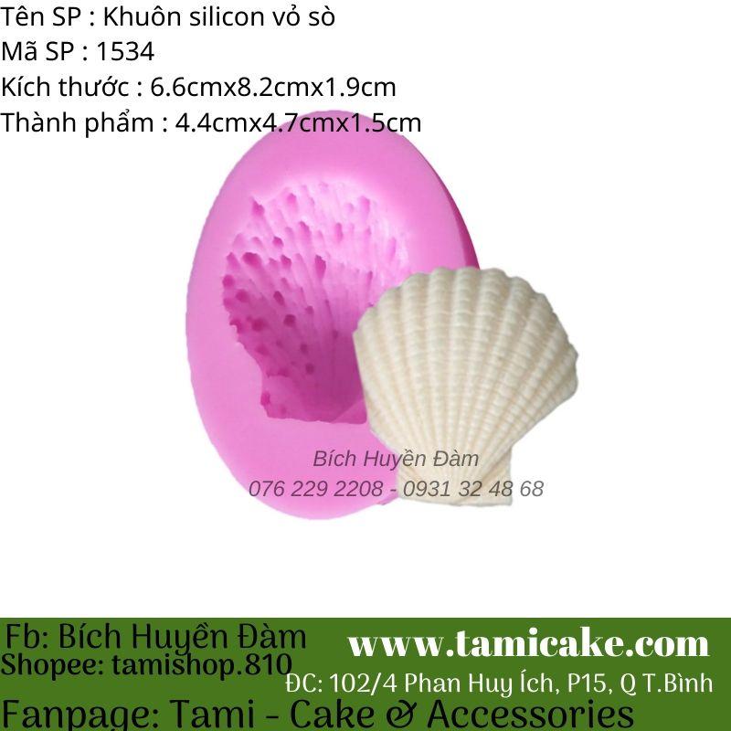 Khuôn silicon vỏ sò 1534