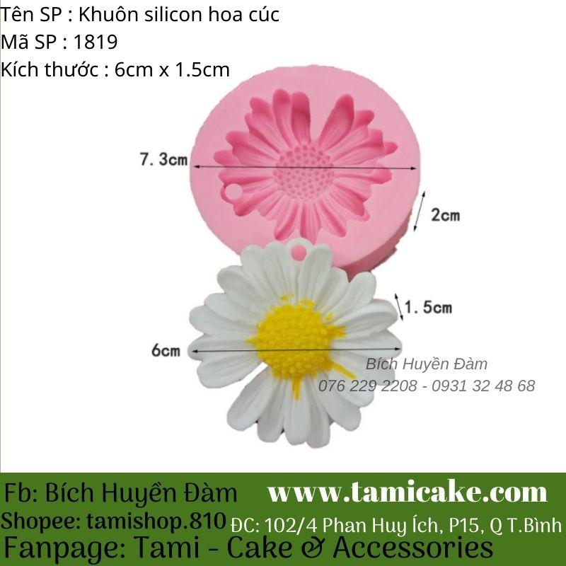 Khuôn silicon hoa cúc 1819