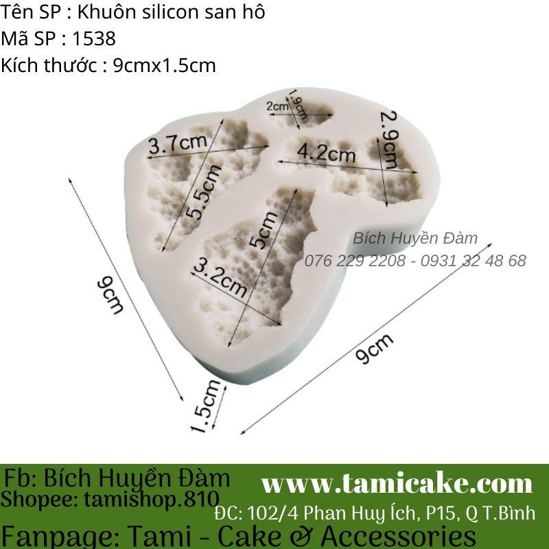 Khuôn silicon san hô 1538