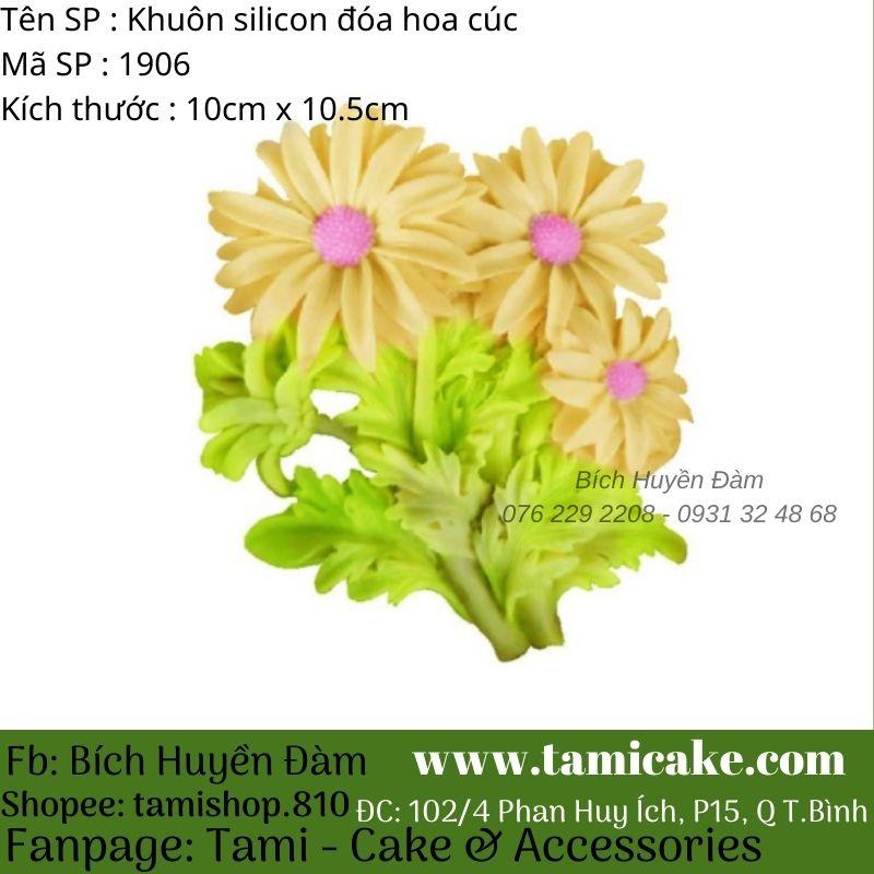 Khuôn silicon hoa cúc 1906