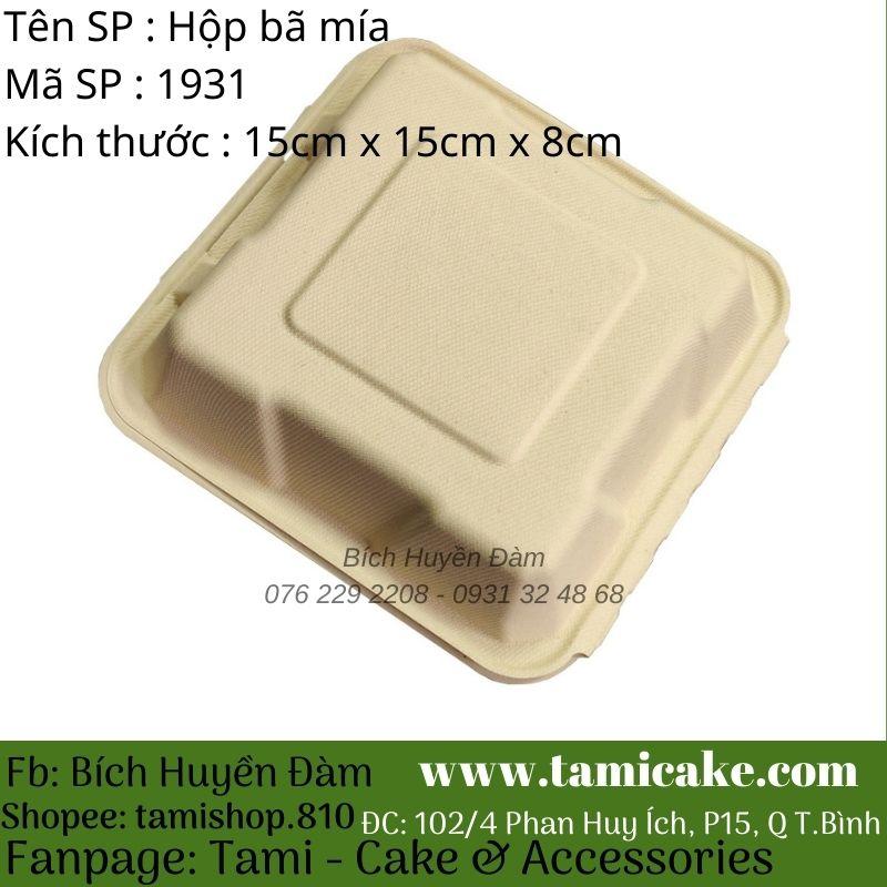 Set 10 hộp bã mía đựng thực phẩm