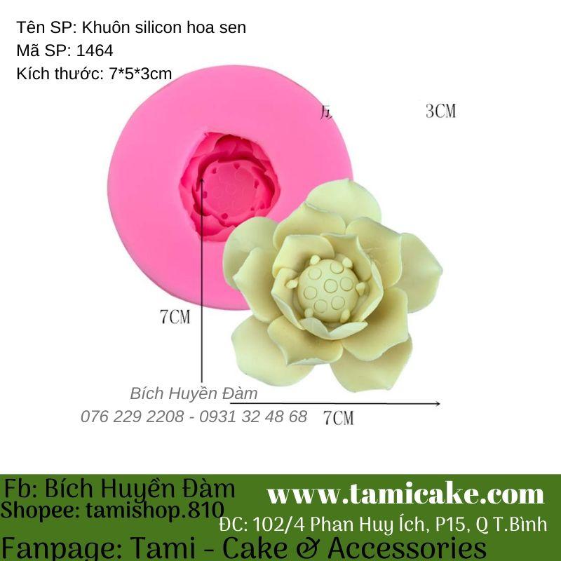 Khuôn silicon hoa sen 1464