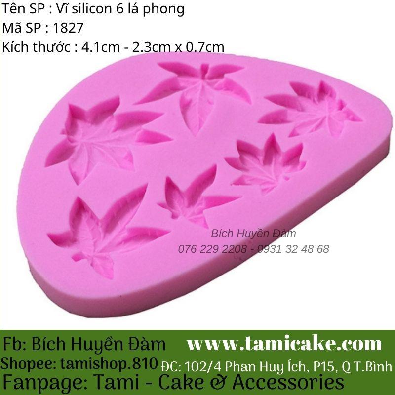 Vĩ silicon 6 lá phong 1827