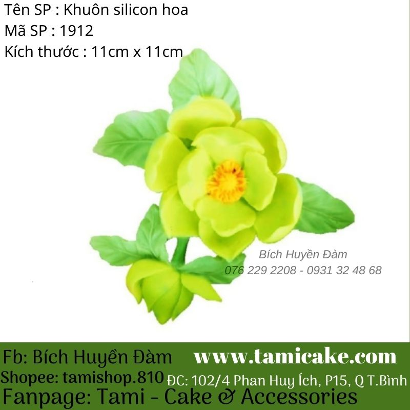 Khuôn silicon hoa hồng 1913