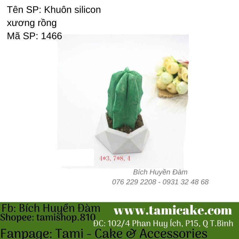 Khuôn silicon xương rồng 1466