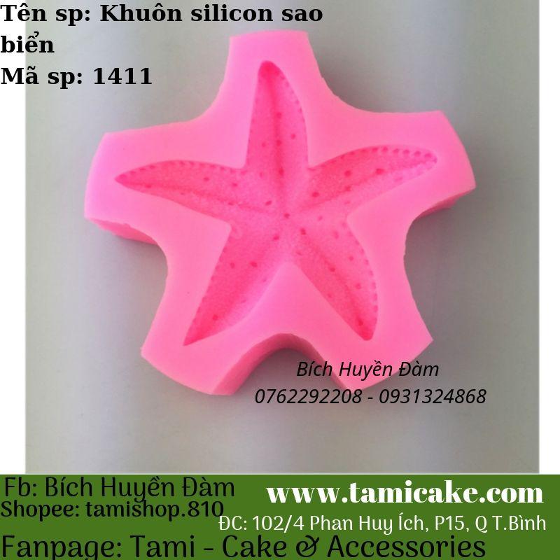 Khuôn silicon rau câu hoa nổi Sao biển 1411