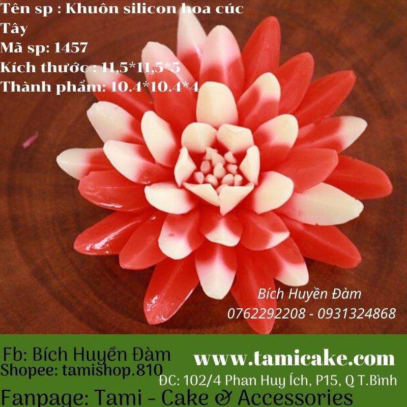 Khuôn silicon hoa cúc tây 1457