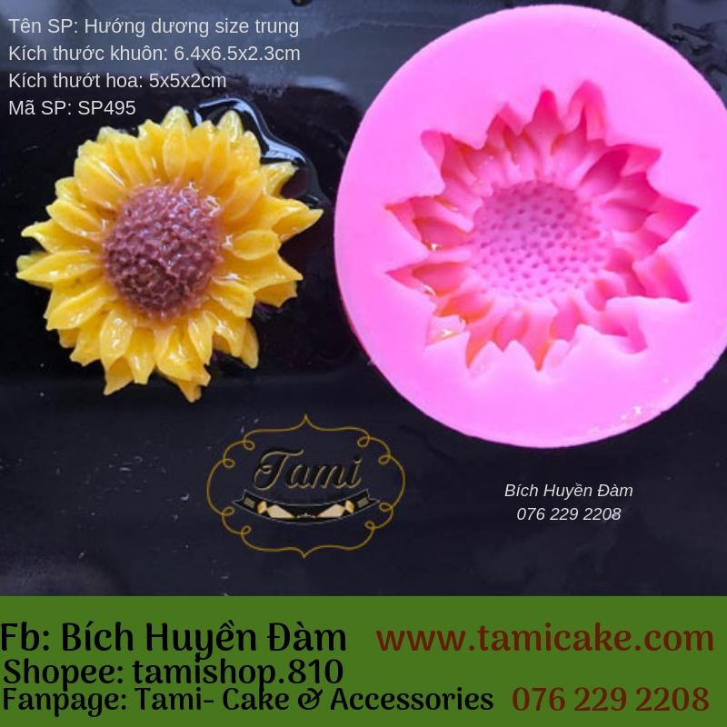 Khuôn Silicon 4D Rau Câu Hoa Nổi - Hướng Dương Mini