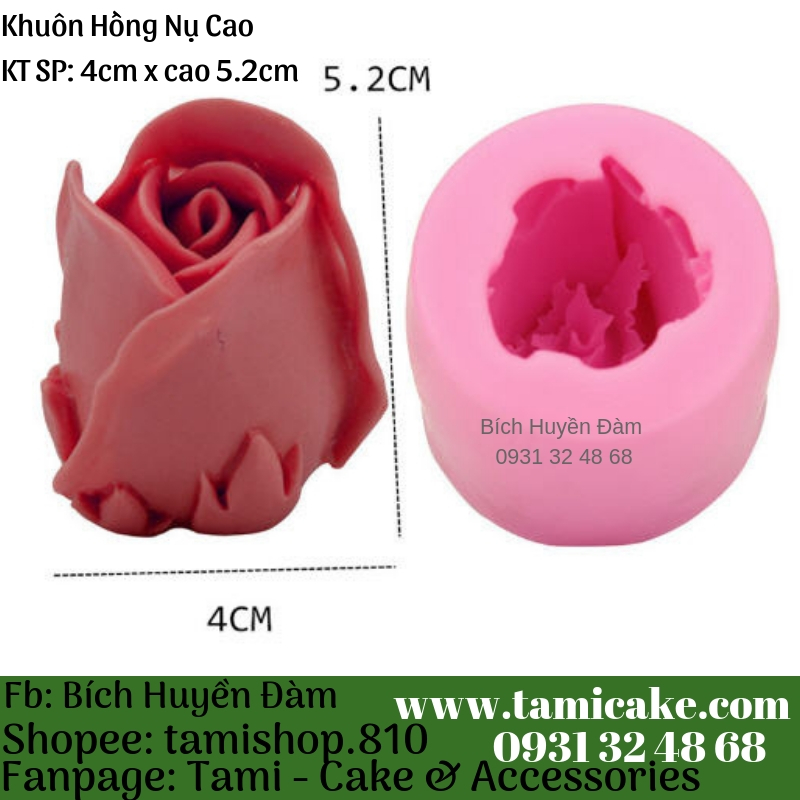 Khuôn silicon- Hồng Nụ Cao 1008