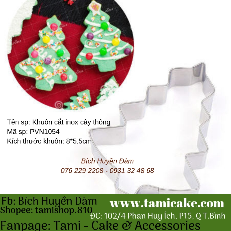 Khuôn cutter inox cây thông- PVN1054