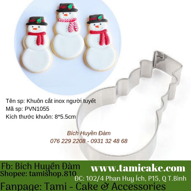 Khuôn cutter inox người tuyết- PVN1055