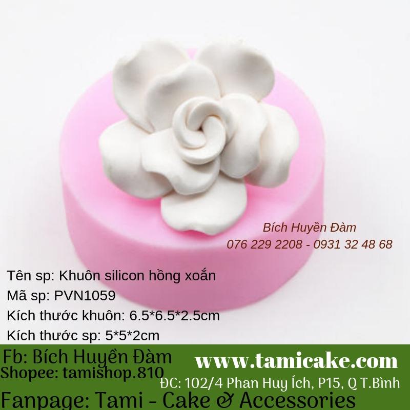 Khuôn silicon hồng xoắn PVN1059