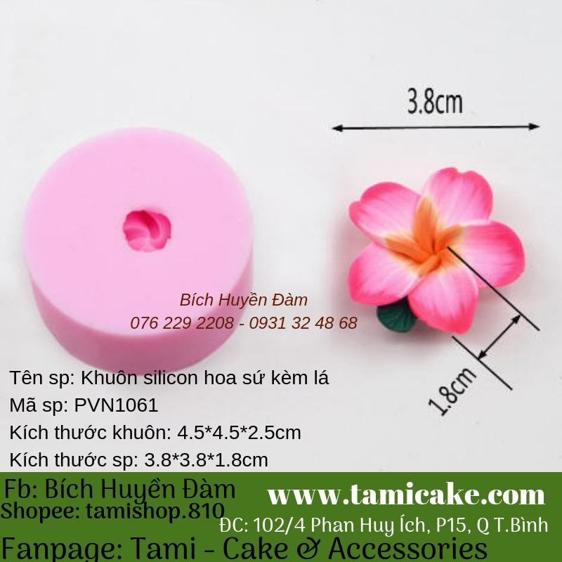 Khuôn silicon Hoa Sứ Kèm Lá PVN1061