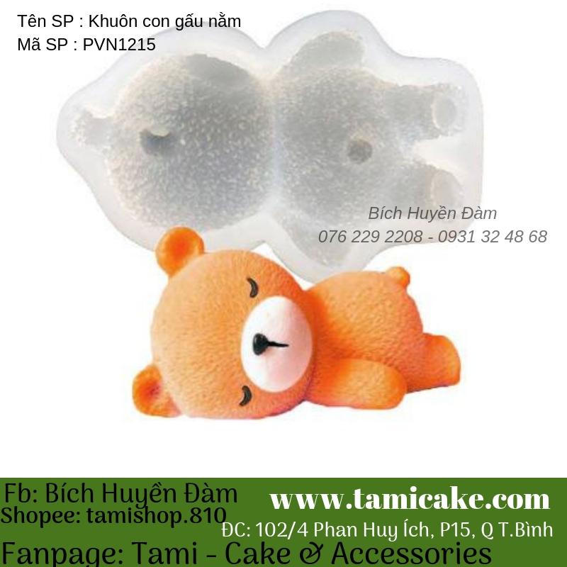 Khuôn con gấu nằm PVN1215