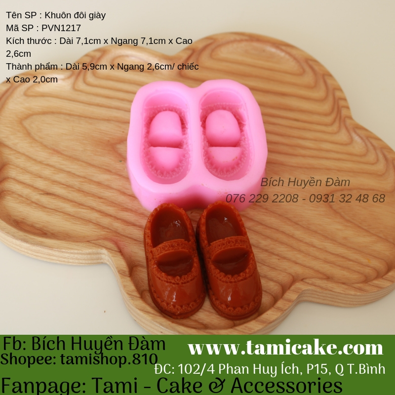 Khuôn silicon đôi giày PVN1217