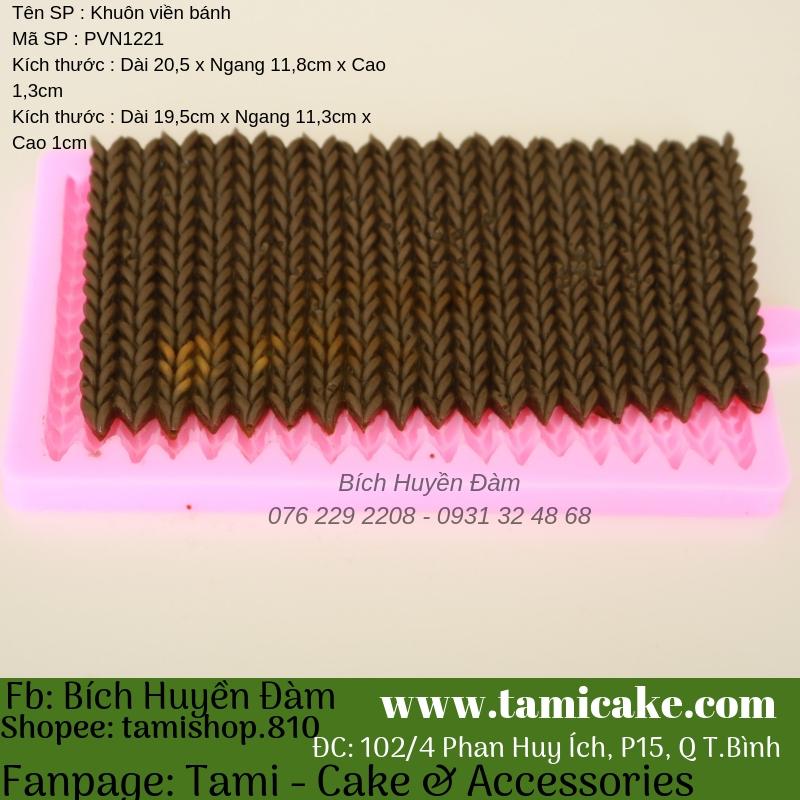 Khuôn silicon viền bánh PVN1221