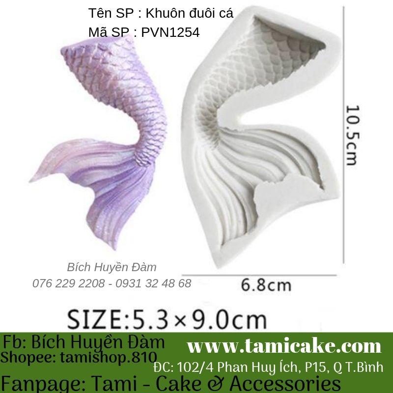 Khuôn silicon đuôi cá PVN1254