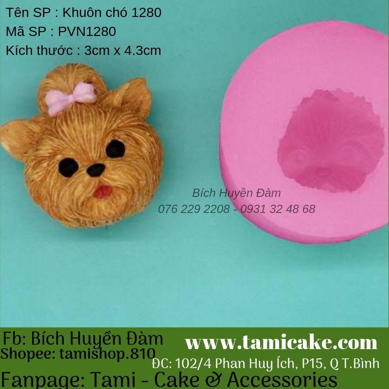 Khuôn silicon hình chó PVN1280