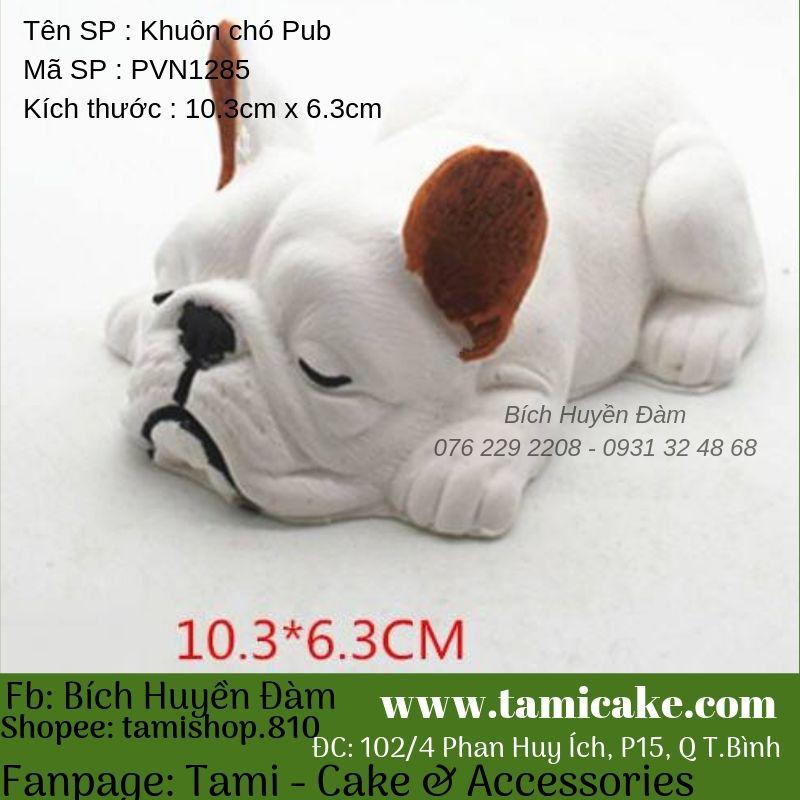 Khuôn silicon chó Pub nằm PVN1285