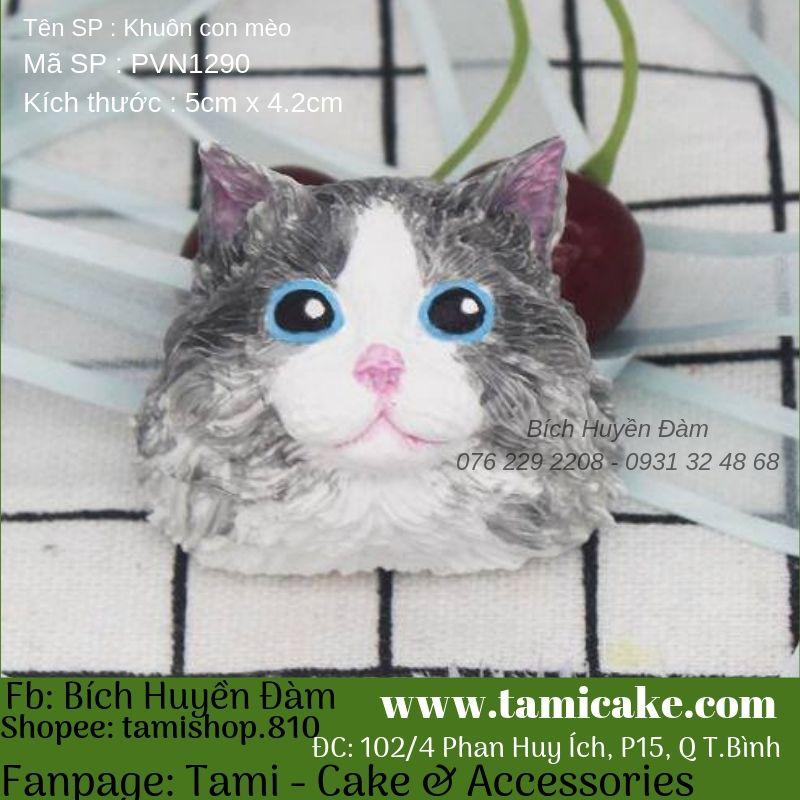Khuôn silicon hình con mèo PVN1290