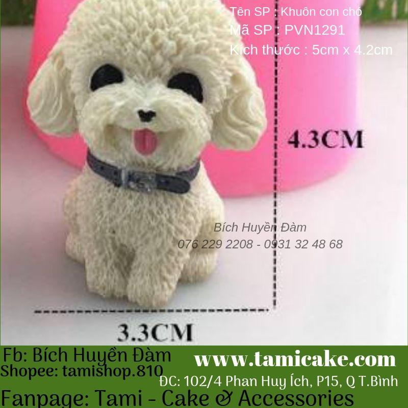 Khuôn silicon hình chó PVN1291