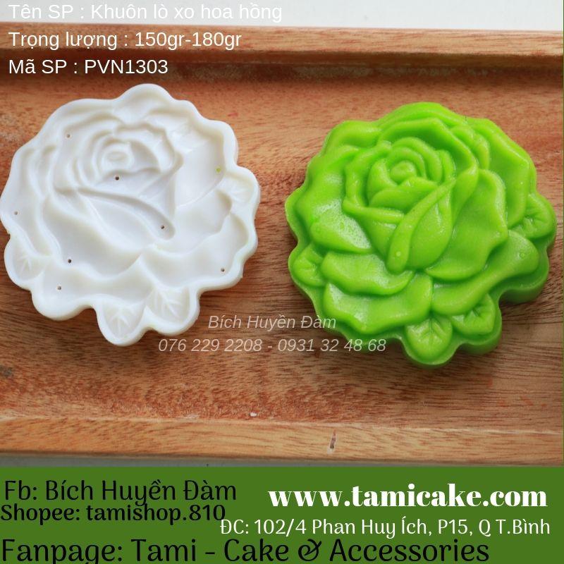 Khuôn trung thu lò xo hoa hồng PVN1303