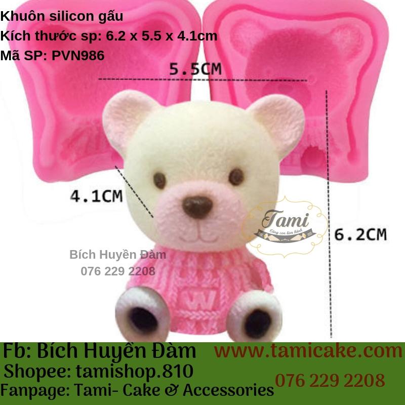 Khuôn silicon- Gấu trắng PVN986