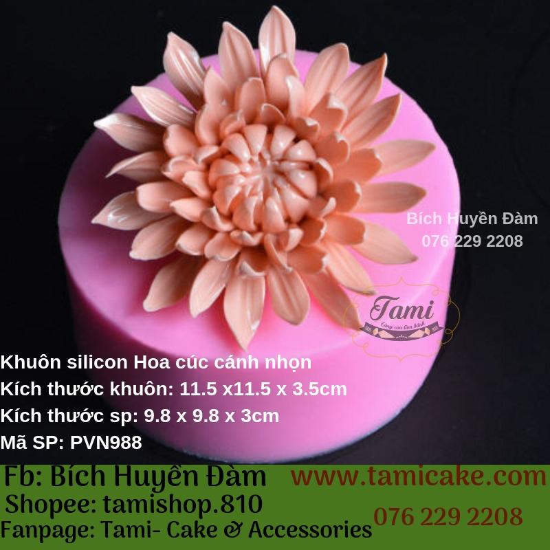 Khuôn silicon- Cúc tía cánh nhọn PVN988