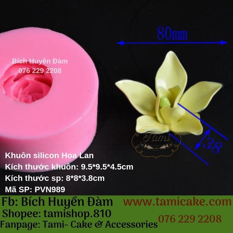 Khuôn silicon rau câu 4D- Hoa Lan PVN989