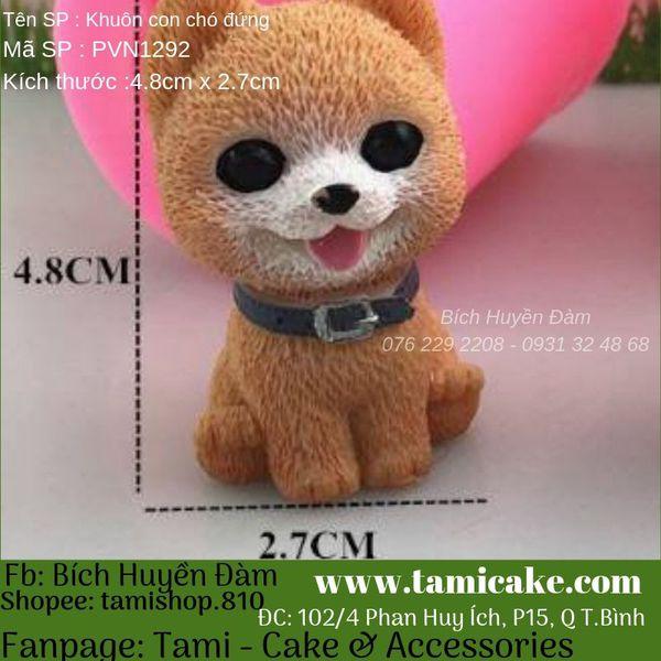 Khuôn silicon hình chó PVN1292
