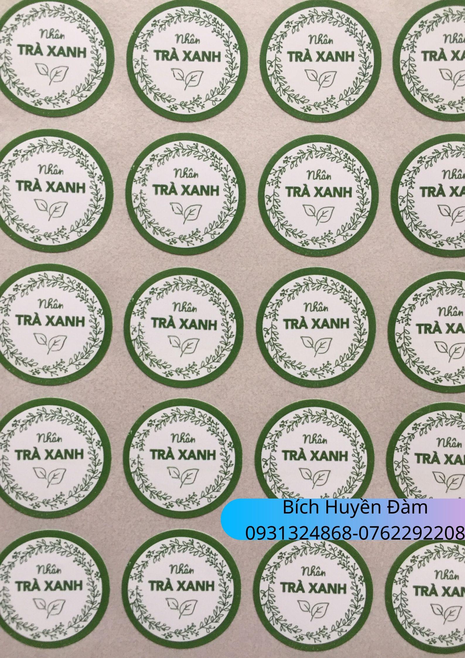 Tem Nhân Bánh Trung Thu 2020 - Trà xanh 01