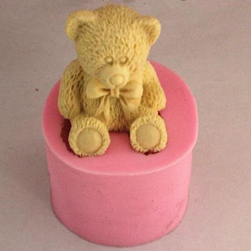 Khuôn Silicon Rau Câu Hoa Nổi - Gấu Teddy