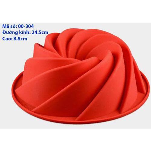 Khuôn Silicon 4D Rau Câu Hoa Nổi - Khuôn Xoắn Hình Nón