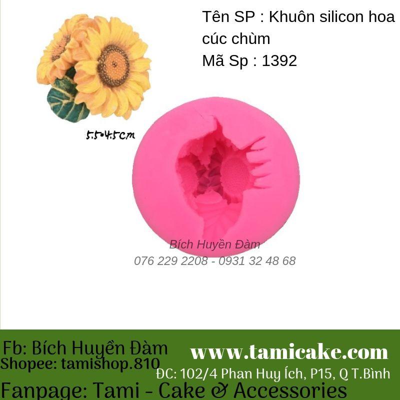 Khuôn silicon hoa cúc chùm 1392