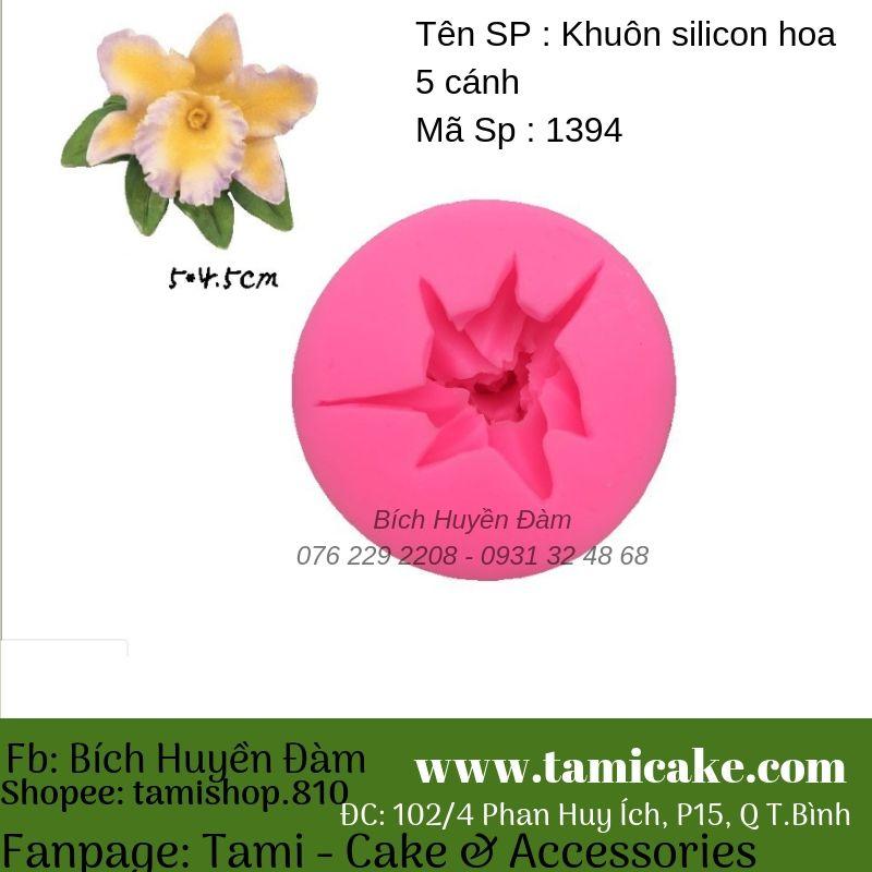 Khuôn silicon Hoa 5 cánh 1394