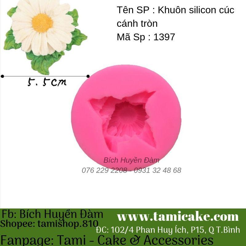 Khuôn silicon hoa cúc cánh tròn 1397