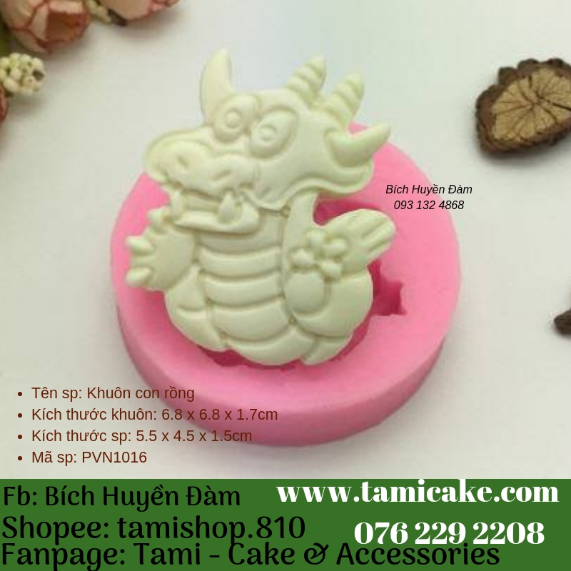 Khuôn silicon- Khuôn con rồng 1016