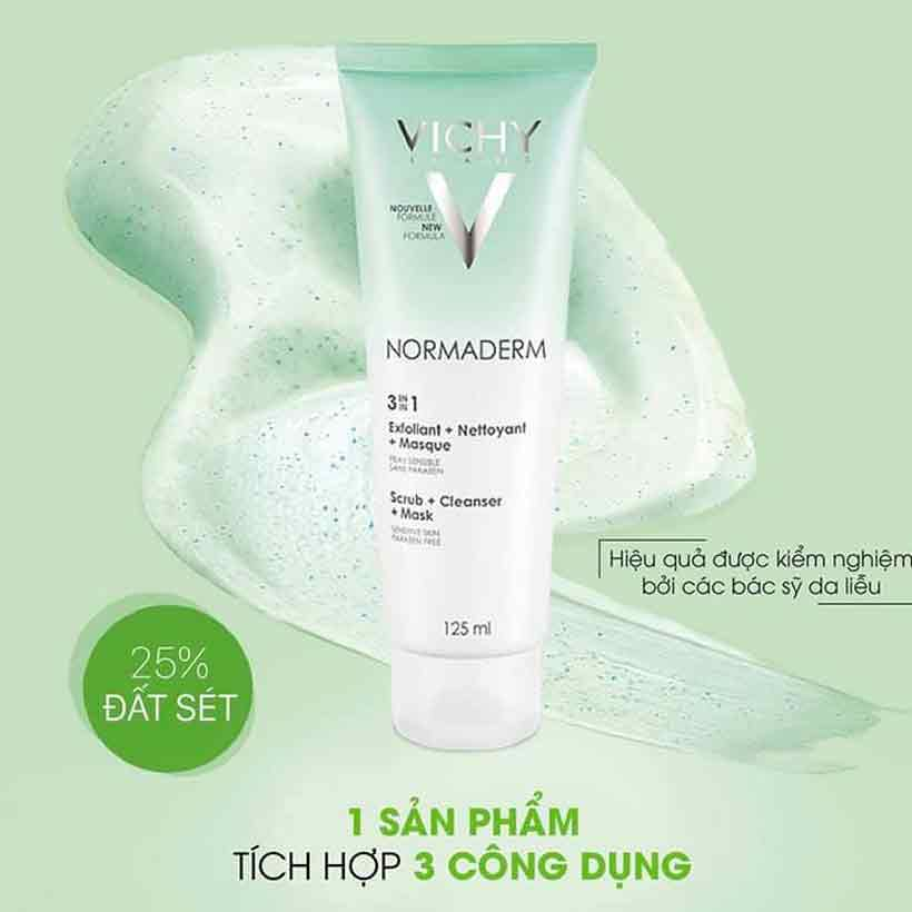 Normaderm 3 In 1 Scrub Vichy 125ml