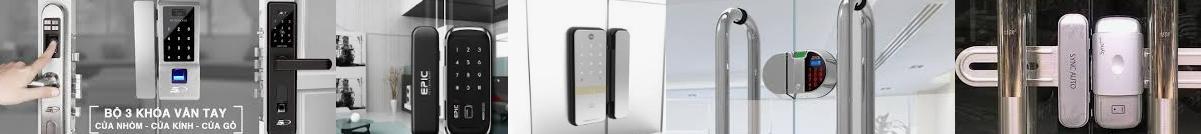 Khóa cổng điện tử vân tay sử dụng Pin