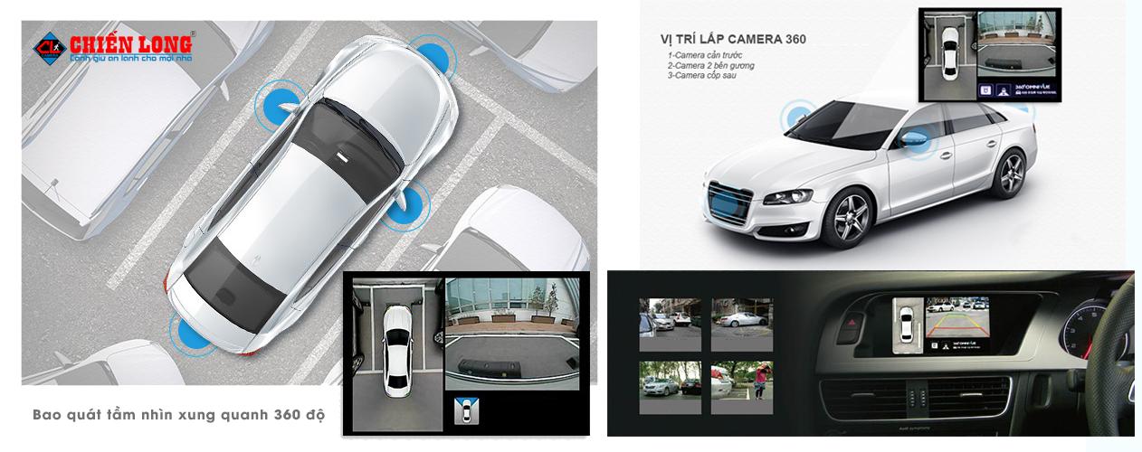 Lắp đặt camera 360 panorama cho xe ô tô, xe hơi - 3
