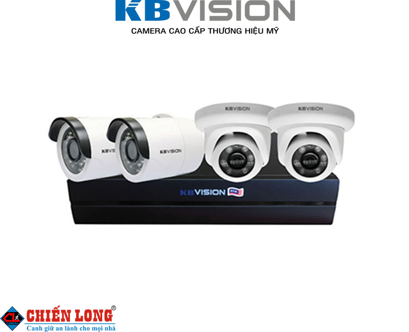 Bộ KIT 4 camera IP  KBVISION K2001N2