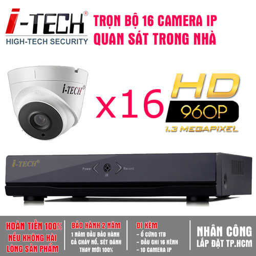 Bộ 16 Camera IP 1.3 Megapixel  iTech-CX13