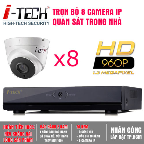 Bộ 8 Camera IP 1.3 Megapixel  iTech-CX13